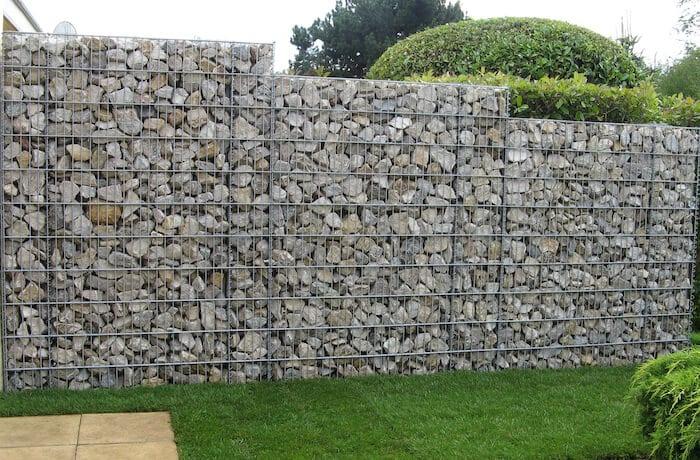 mur en gabion - aménagement paysagers